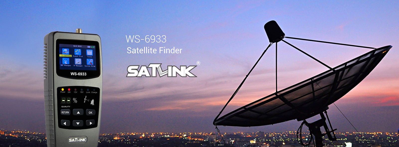 China best Satlink Satellite Finder Meter on sales