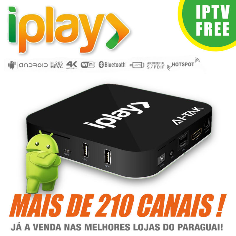 HDMI 2.0 Brazilian IPTV Box Brasil , Iplay Portuguese TV Box No Time Limited