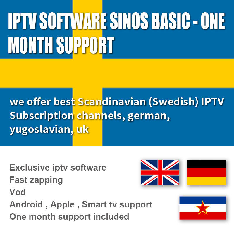 Subscription 1000 Exclusive Software  Live / VOD 1 Month , Android  / IOS IPTV Box Sweden