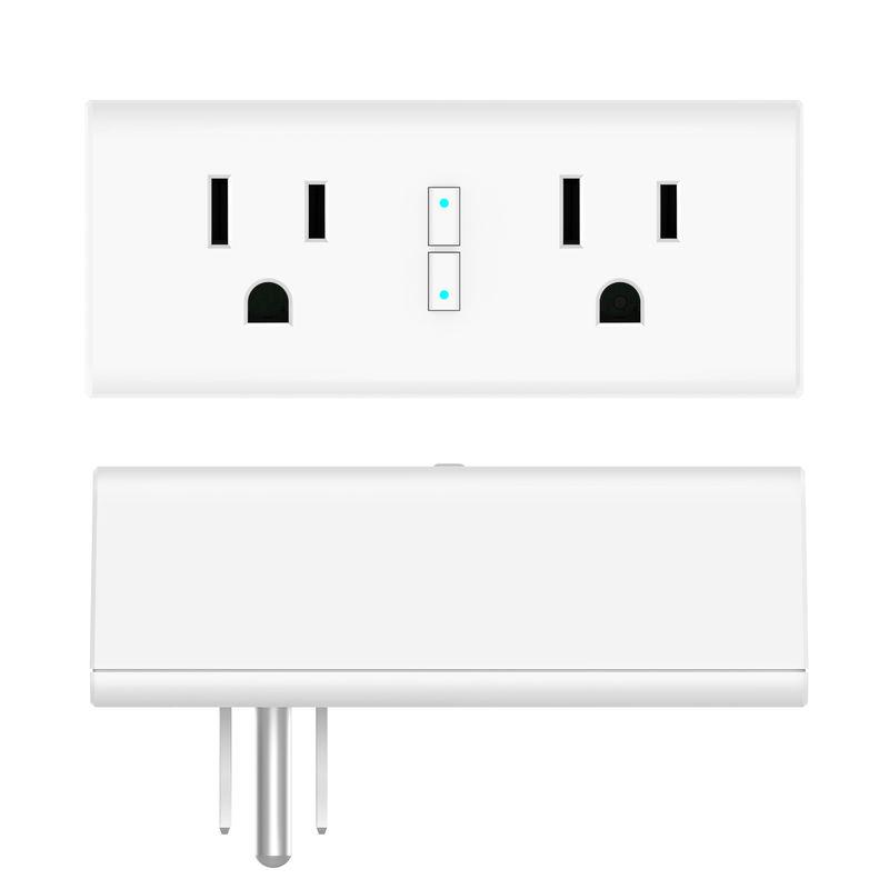 US Standard 2 Packs WiFi Smart Power Plug Echo Compatible Google