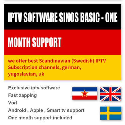 Scandinavian Sweden Android Smart TV Box IPTV Subscription 1000 Live / VOD