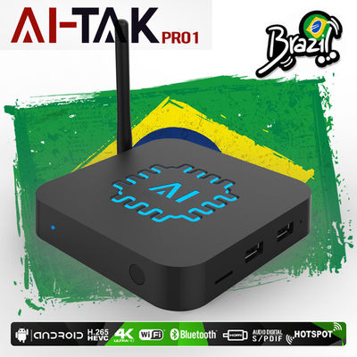 HTV5 IPTV Box Brasil  4K  400 TV Channels Bluetooth Android 6.0 With Playback