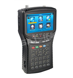 HD Combo Spectrum Satlink Satellite Finder Meter , DVB-T2 WS 6979 Satellite Finder With TFT LCD Screen